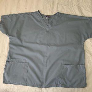 Cherokee Workwear Steel Gray Scrub Top